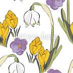 Frühlings Mix Nahtloses Vektormuster