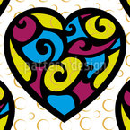 Tiffany Hearts Seamless Vector Pattern Design