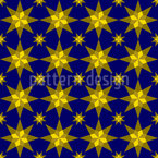 Sternennacht Nahtloses Vektor Muster