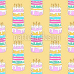 Birthday Cakes Seamless Vector Pattern Design
