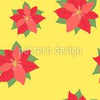 Пуансеттия в цвете Бесшовный дизайн векторных узоров