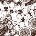 Vintage Exotische Blumen Nahtloses Vektormuster