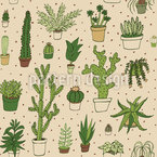 Collection Cactus Motif Vectoriel Sans Couture