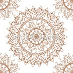 Spitzen Mandala Nahtloses Vektormuster