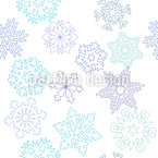 Papercut Snowflake Seamless Vector Pattern Design