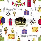 Birthday Party Seamless Vector Pattern Design