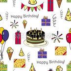Geburtstagsfeier Nahtloses Vektormuster