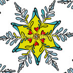 Festive Snowflake Seamless Vector Pattern Design