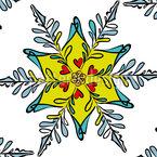 お祝いのスノーフレーク シームレスなベクトルパターン設計