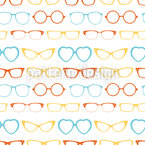 Hipster Glasses Seamless Vector Pattern Design