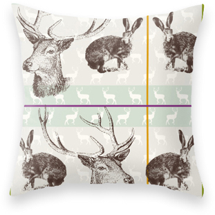 Pattern Design API sample pillow with deer